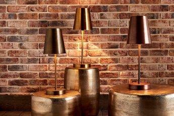 LAMPE TABLE ENZO LAITON OU CUIVRE ref 143529 - 57€