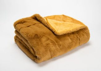 PLAID LUXE CAMEL 130X170 52€