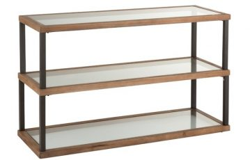 console 3 niveaux verre et bois - ref 1002 - 379€