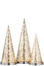lampe led metal argent ref 96730-39€