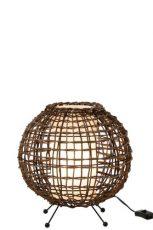 lampe ronde ethnique bois ref 91096-76€