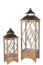 lanterne bois metal ref 96245A-126€ et 96245B-84€