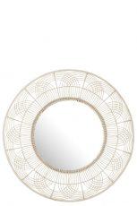 miroir rond fleur bambou blanc 111 cm ref 1416 - 229€