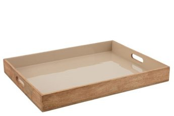 plateau bois manguier beige ref 5557-74€